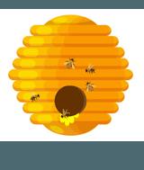 bee hive yellow